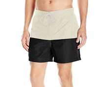 Nautica Men's Pieced Colorblocked Swim Trunks, Sailcream
