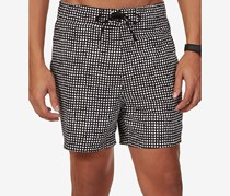 Nautica Mens Painterly Dot-Print Swim, True Black