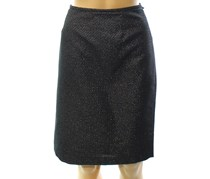 Calvin Klein Petite Metallic Straight Pencil Skirt, Black