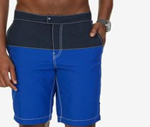 Nautica Men's Quick Dry Colorblocked Swim Trunks, Cobalt