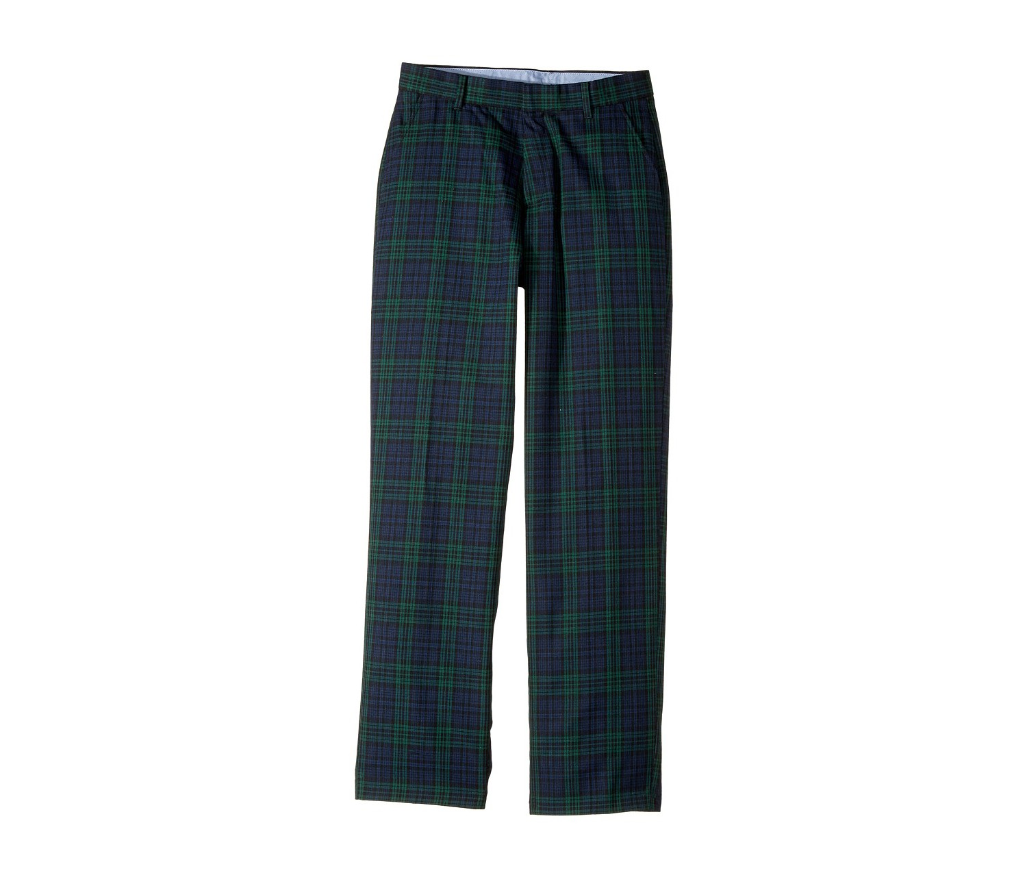 Tommy Hilfiger Boy's Plaid Pants, Dark Green