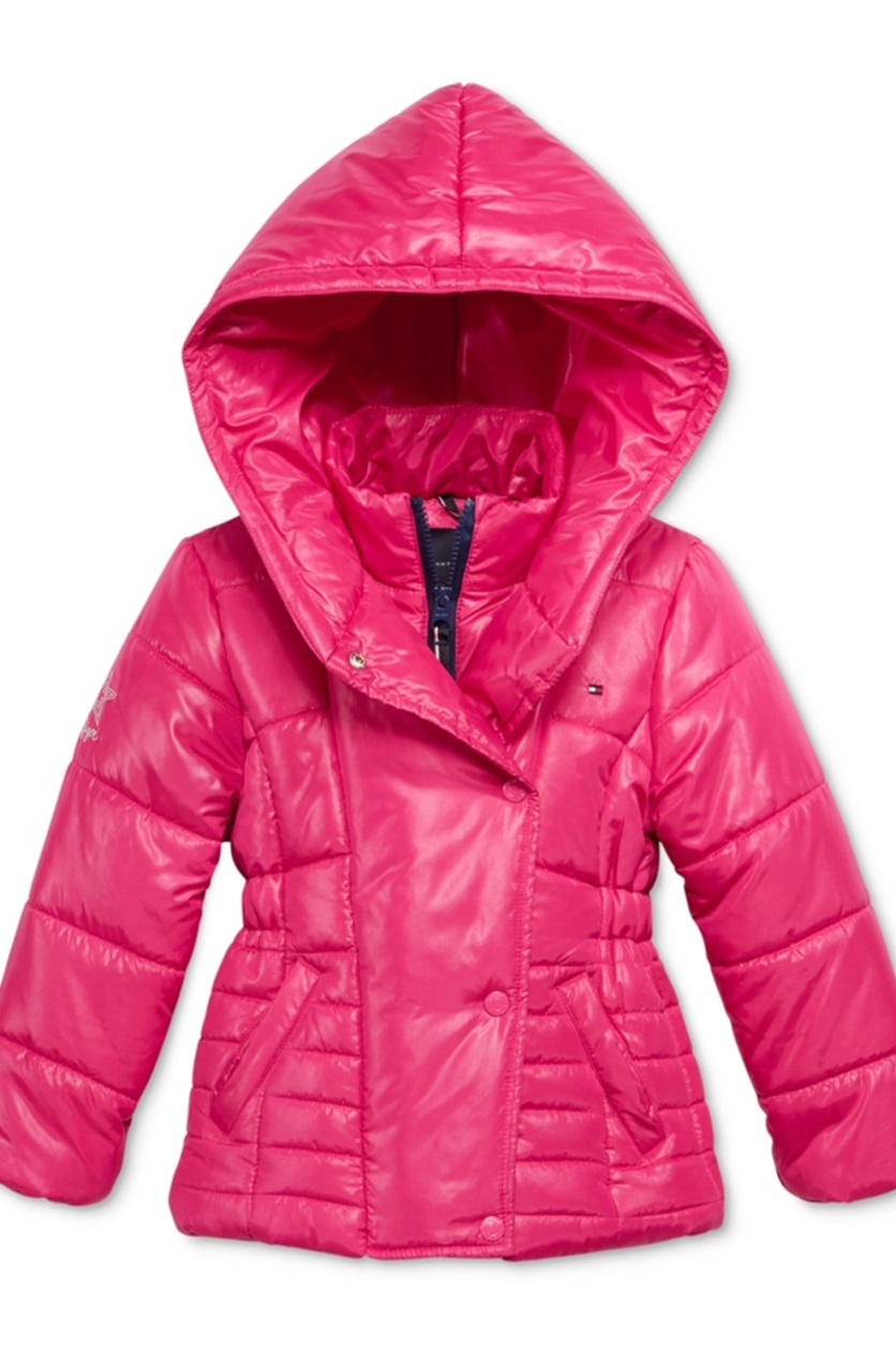 b42902bfb Shop Tommy Hilfiger Tommy Hilfiger Pillow-Collar Hooded Puffer ...