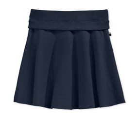 Tommy Hilfiger Girls Ribbed-Waist Ponte Skirt, Medium Navy