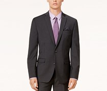 Bar III Jacket Charcoal Solid Extra Slim Fit, Charcoal