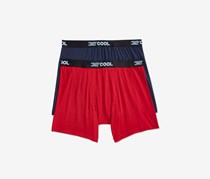 32 Degrees Cool Men's Boxer Briefs 2 Pack, Navy/Red
