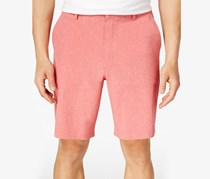 Men's Stretch Flat-Front Shorts,Red