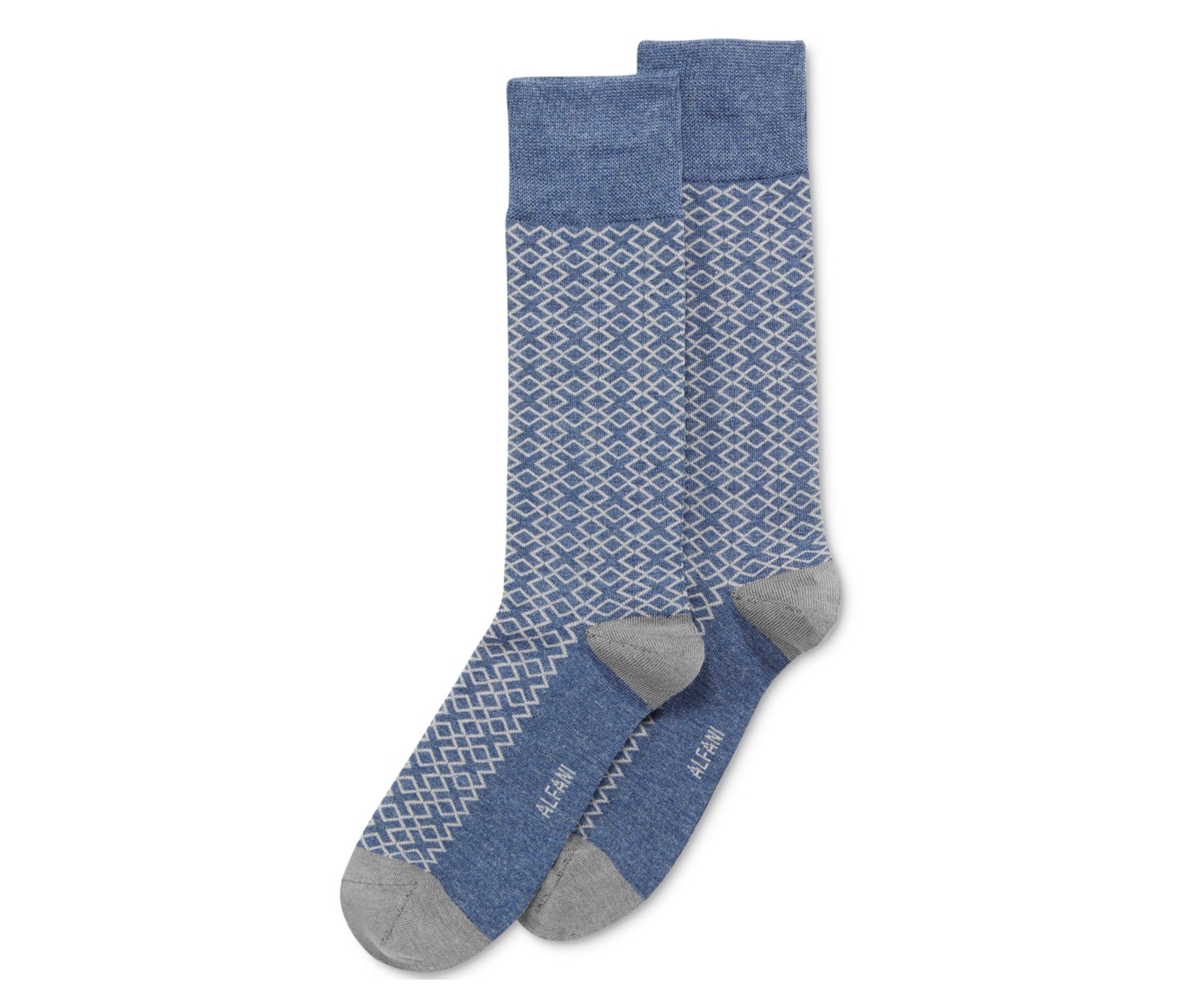 Mens T Puzzle Socks, Navy Heather