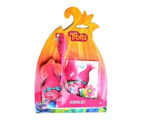 Trolls Schoolset Writing 3-piece, Pink Multi