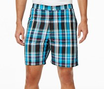 Tommy Bahama Mens Coasta Plaid Swim Trunks, Jet Black/Blue