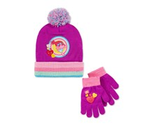 Trolls Princess Poppy Rainbow Hat & Gloves Set, Purple