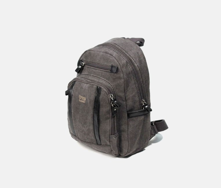 Classic Small Canvas Backpack Black