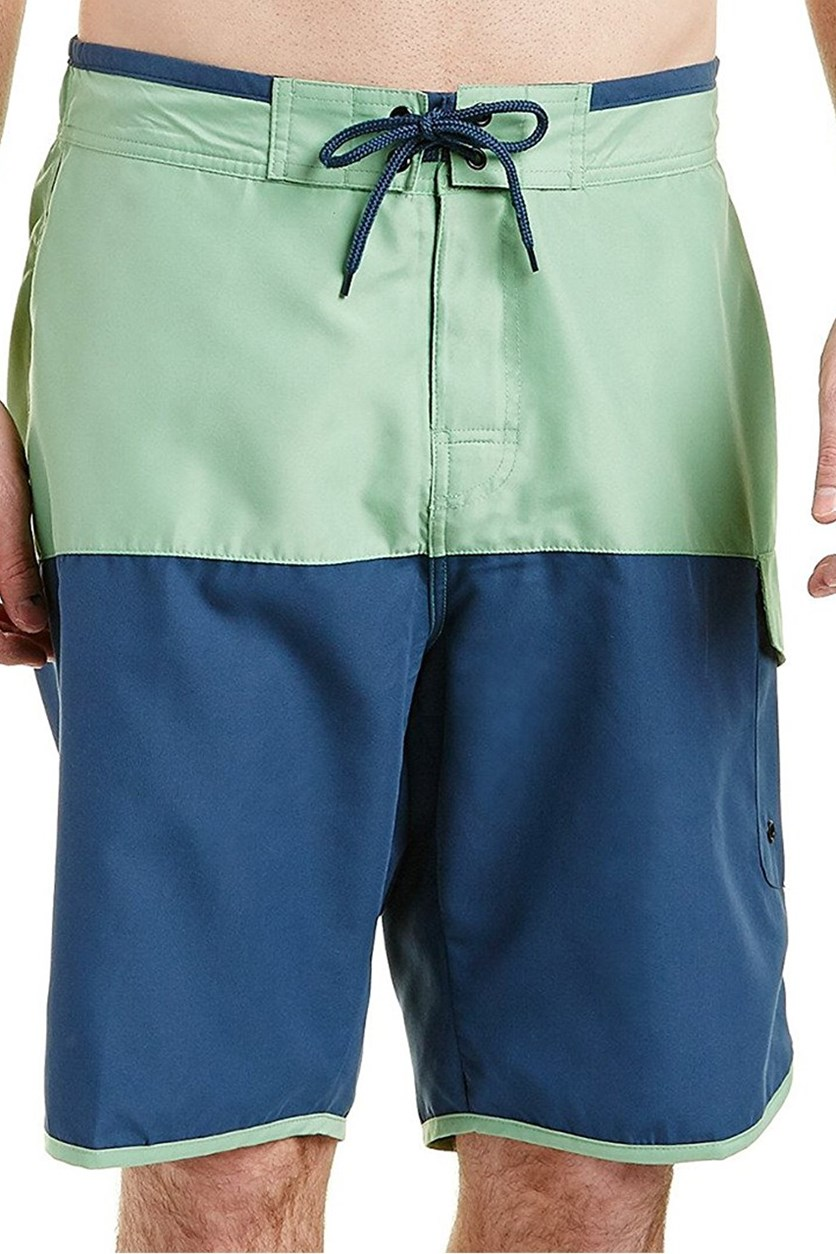 Mens Bernardo Swim Short, Grass/Lagoon