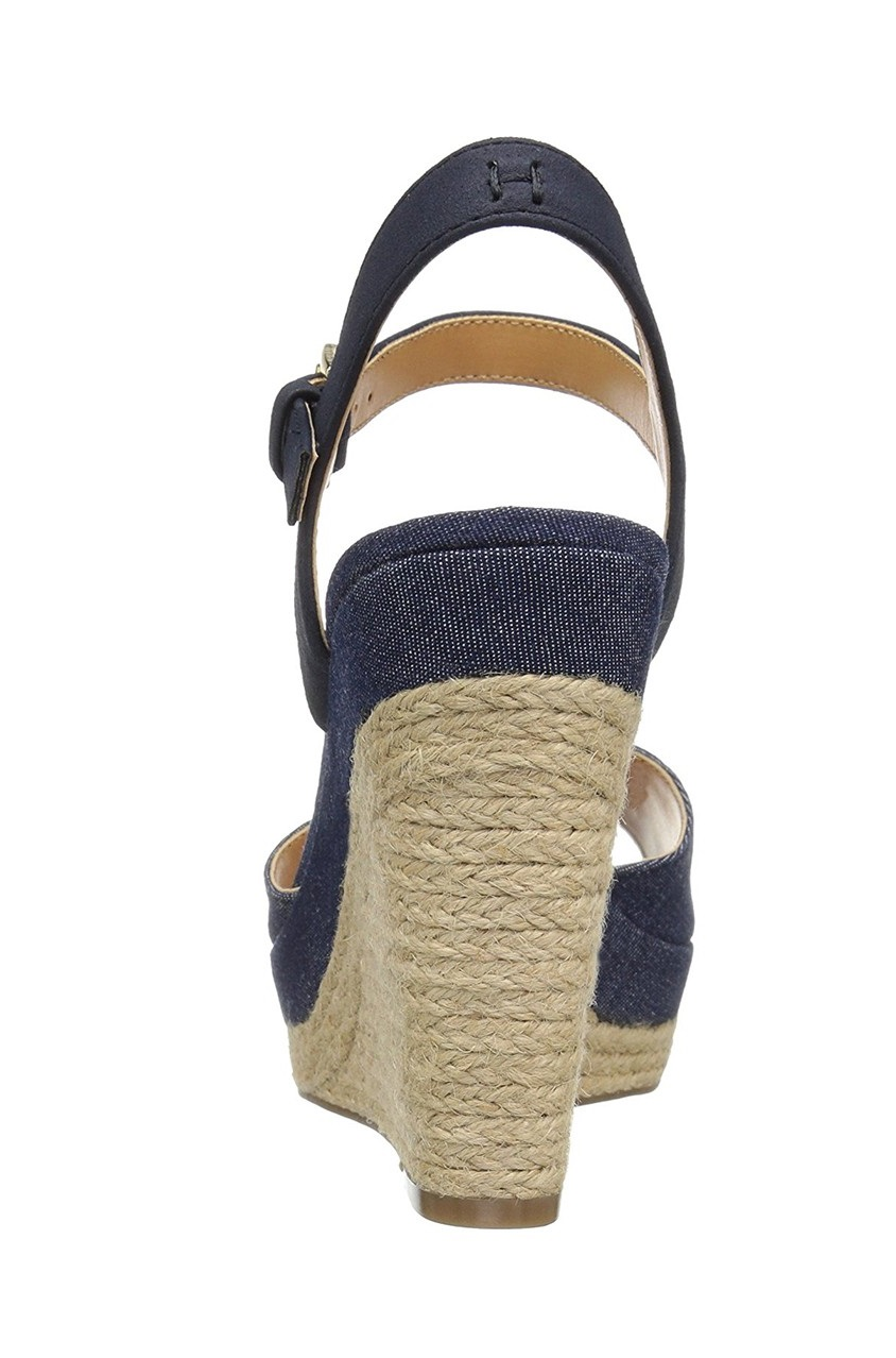 c2ab398b063 Shop Tommy Hilfiger Kali Espadrille Wedge Sandals, Medium Blue for ...