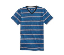Univibe Striped V-Neck T-Shirt, Newport Blue