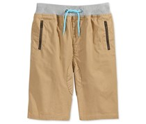 Univibe Kids Boys Gunther Cotton Shorts,  Dark Khaki