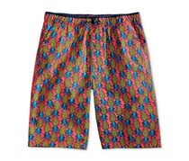 Univibe Abaca Pineapple-Print Shorts, Coral