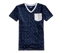 Univibe Big Boys Diamond-Print T-Shirt, Indigo