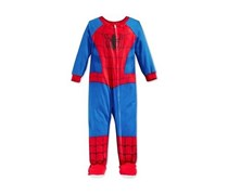 Spider-Man Toddler Boys' One-Piece Footed Pajama, Multi