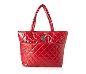 U.S. Polo Assn. Voyage Nylon Quilted Tote, Crimson