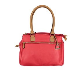U.S. Polo Assn. Billy Triple Entry Satchel, Red