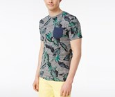 Univibe Mens Oh Yeah Tropical-Print, Mouse Grey