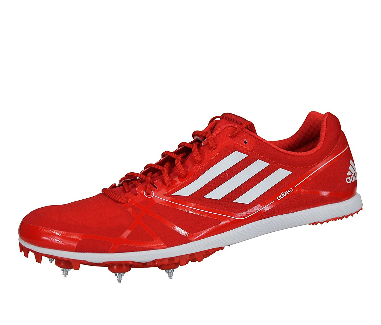 Shop Adidas Adizero Avanti 2 Spikes Men's Running Shoes, Red