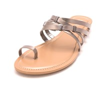 Bar III Vanita Toe-Ring Thong Sandals, Pewter