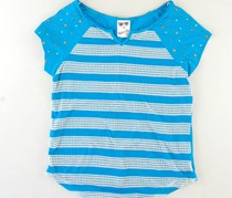 Girls Sea Blue with Studs Top