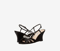 Nina Women's Viani Wedge Sandal, Black