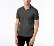 Vince Camuto Men's Johnny Collar Polo, Charcoal