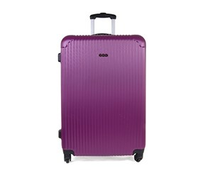 Tahari Lightweight Vertical Stripe 24'' Luggage, Purple