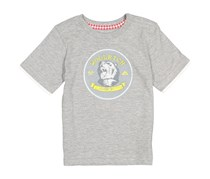 Woolrich Baby Boy Graphic Tee Bear, Grey