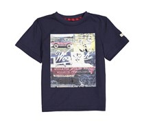 Woolrich Baby Boys Graphic Tee, Blue