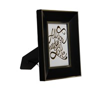 Isaac Jacobs Matte With Gold Metallic Trim Picture Frame, Black/Gold