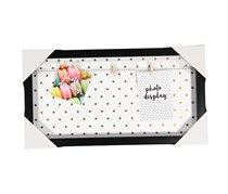 Isaac Jacobs Photo Alternative with Rolling Texture Frame, Black