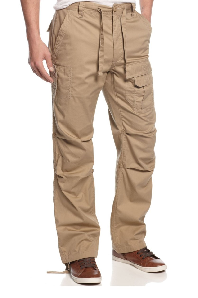 Pleat Pocket Flight Pants, Travertine