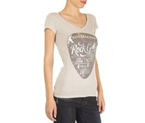 Guess Women's Plectrum Tee, Light Khaki