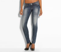 Guess Women's Skinny Low Sequins Denim Pant, Denim Blue