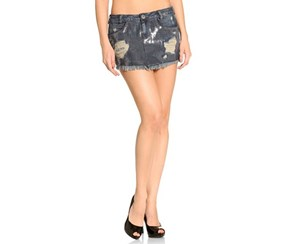 Guess Grego Mini Sequins Denim Skirt, Blue