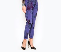Guess Berta China Seasonal Floral Pants, Purple