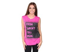 Guess Women's Sleeveless Graphic Top, Pink