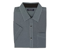 Nautica Men's Slim-Fit Geo-Print Shirt, Meridian