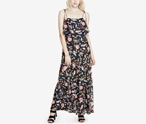 GUESS Indie Printed Lace Maxi Dress, Floral Estate Jet Black