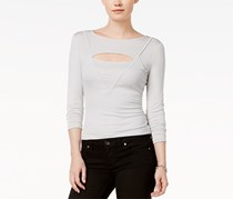 GUESS Blairre Cutout Top, Quiet Grey