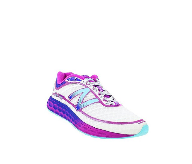 Women's Total Running Coarse Sneakers, White/Purple