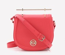 Bebe Lilly Crossbody Saddle Bag, Hibiscus Red