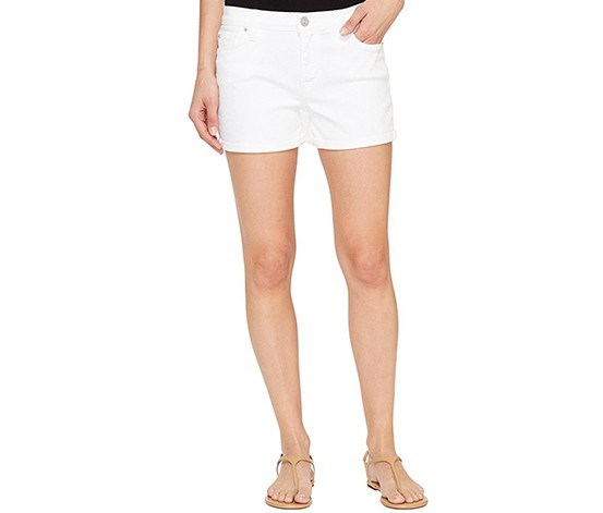 Jeans Asha Cuffed Denim Shorts, White Wash