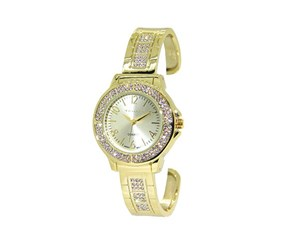 Tahari Womens Quartz Crystal Bracelet Watch, Gold