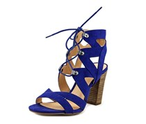 Xoxo Barnie Lace-Up Sandals, Blue