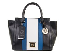 Christian Lacroix Marine Tote Bag, Black/Ocean/White